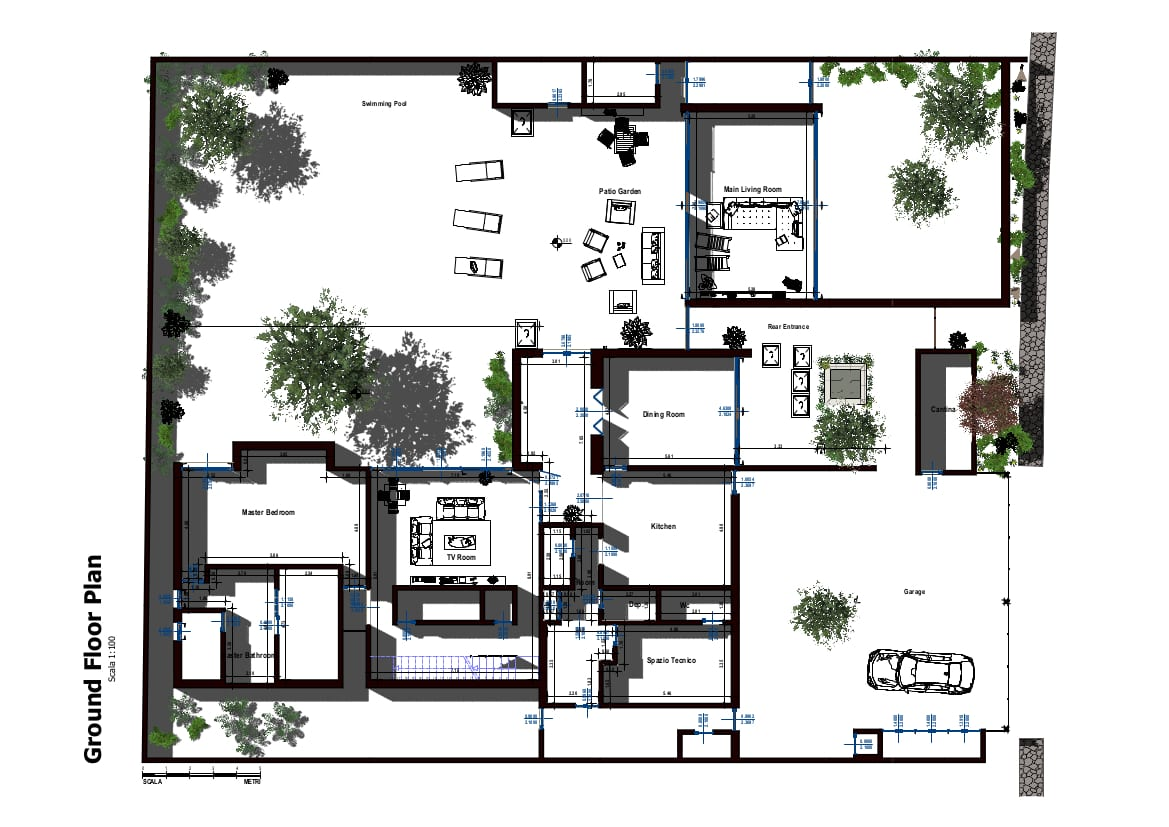 Immmage du plan de casa Casa Altabrisa24 avec pièces et aménagements intérieurs