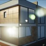 Détail de la façade extérieure réalisé avec Edificius