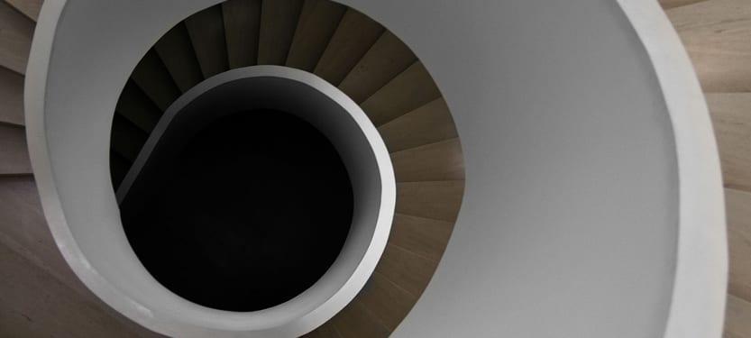 Escalier de la résidence Park House conçue par le bureau A-cero