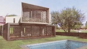Casa San Roque: façade postérieure avec effets visuels