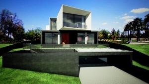 Casa San Roque: façade Rendu Temps Réel détail