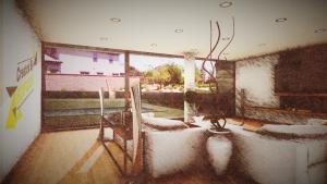 Casa San Roque: Rendu Temps Réel Living avec effets