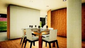 Casa San Roque: Rendu Temps Réel détail salle à manger