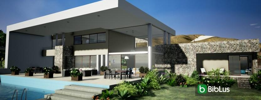"menuiserie dans un projet de BIM ""Casa del viento"""