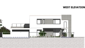 Elévation Ouest C-House