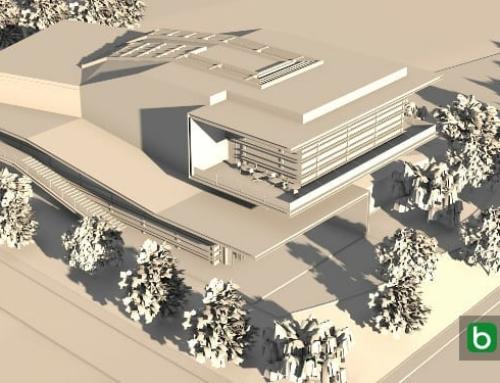 La modélisation d'un toit avec un logiciel de BIM : Daegu Gosan Library
