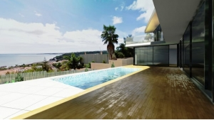 Patio e piscina con vista JC House