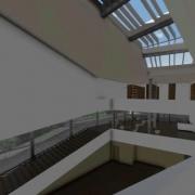 un escalier et un parapet avec un logiciel de BIM Daegu Gosan Library