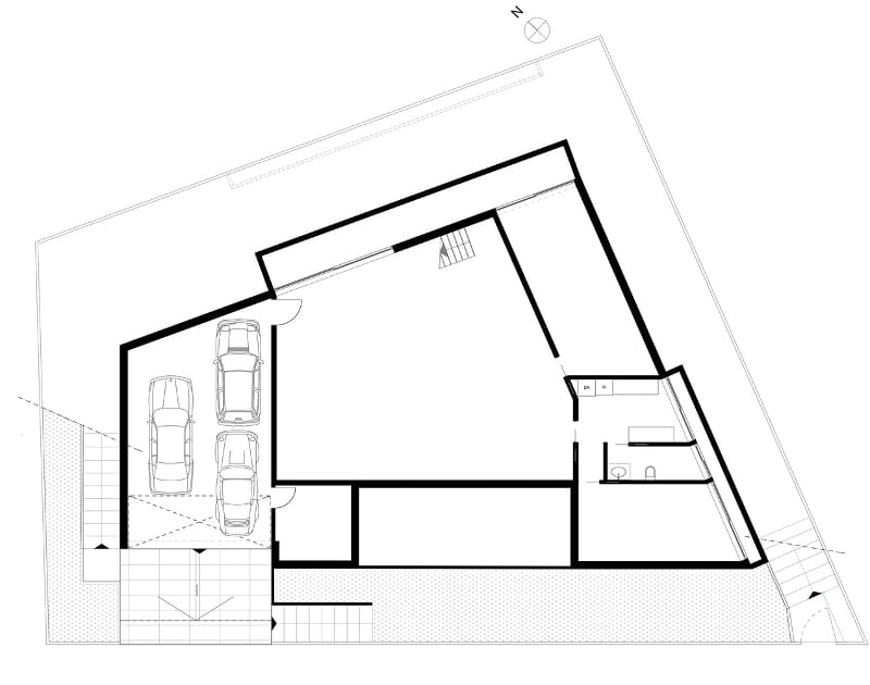 Plan semi-enterré JC-House