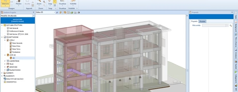La collaboration BIM conception architecturale et de calcul des structures Edificius EdiLus
