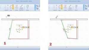 Modification des mesures et des angles de l'enveloppe horizontale