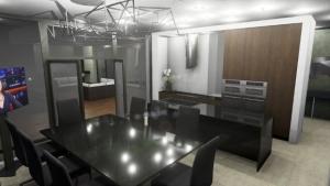 Cuisine et salle à manger de la Country House in Marfino