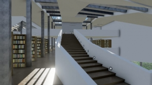 Escalier Daegu Gosan Public Library avec Edificius
