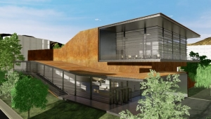 Façade Daegu Gosan Public Library avec Edificius