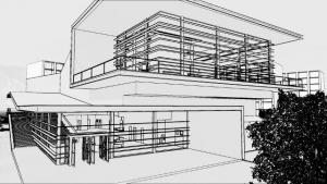 Façade avec effet visuel Daegu Gosan Public Library avec Edificius