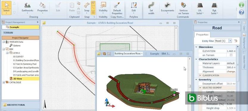 Modéliser une route avec un logiciel de BIM Edificius