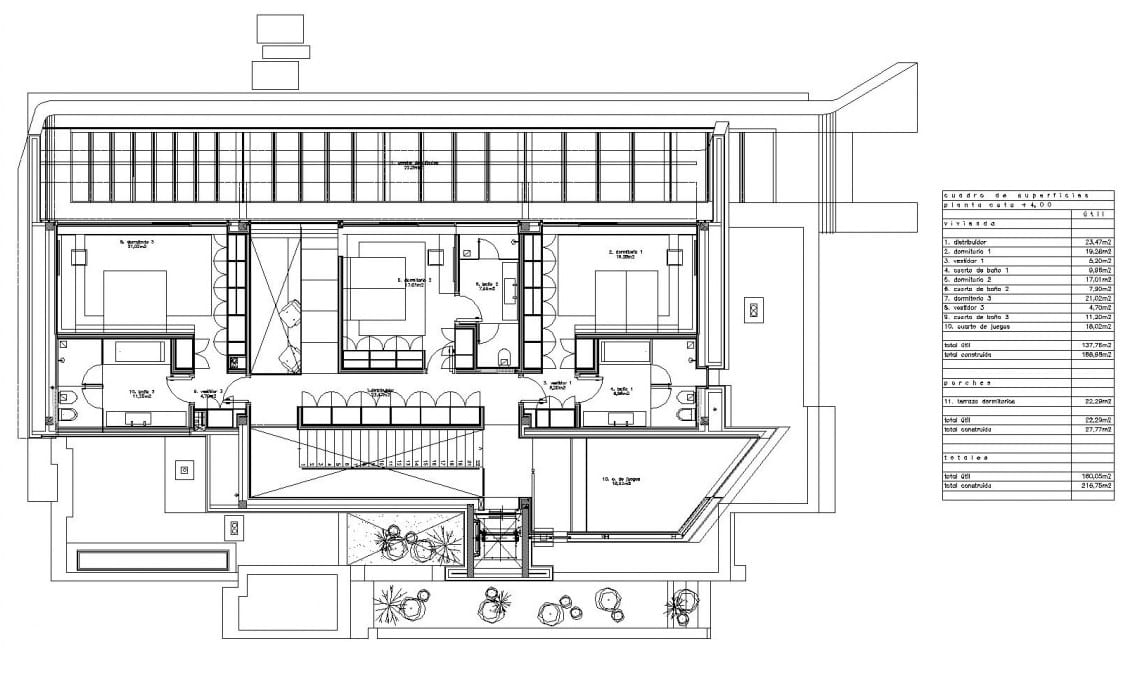 Plan premier étage -MarbleBamboo- Edificius1