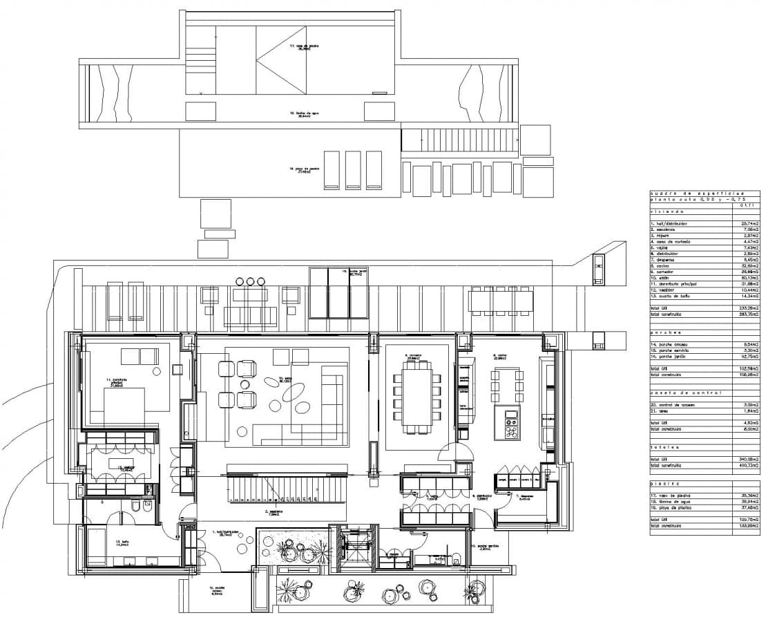 Plan rez-de-chaussée MarbleBamboo -Edificius