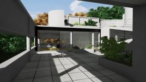 Accès terrasse living Villa Savoye BIM-Edificius
