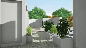 Organisation de la Terrasse de Villa Savoye Edificius-BIM