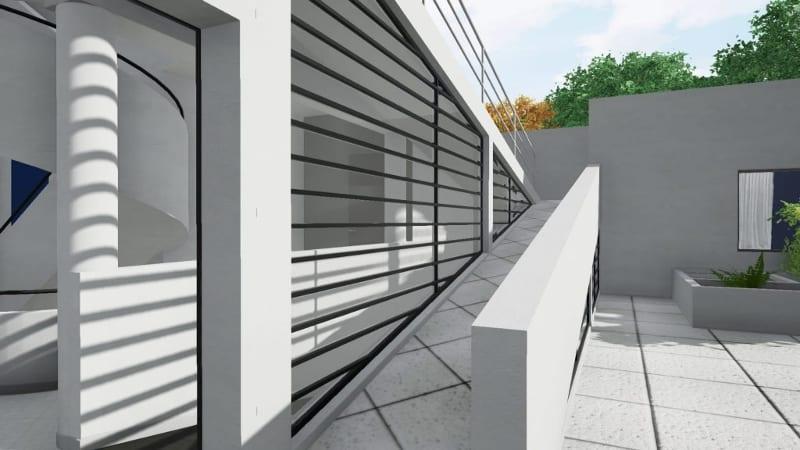 Parois de la rampe du toit de Villa Savoye - BIM Ediificius