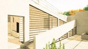 Promenade architectural effet graphique de Villa Savoye BIM-Edificius