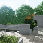 Solarium promenade Villa Savoye BIM-Edificius