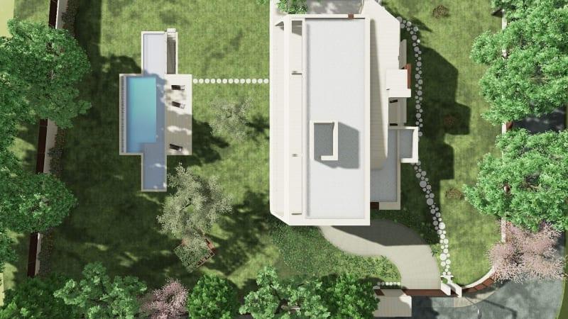 Chemins du jardin avec le logiciel BIM Edificius