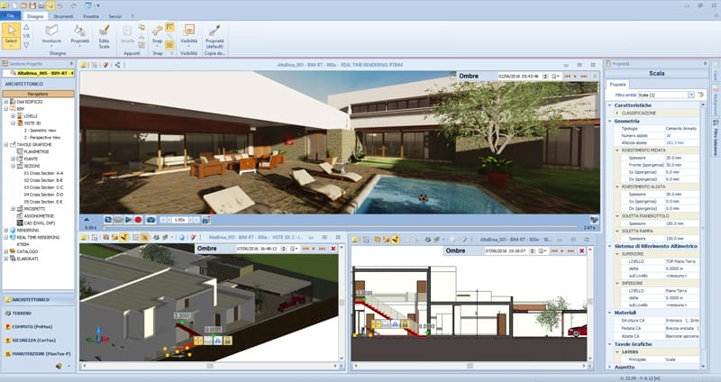 Interface du logiciel BIM pour la conception architecturale