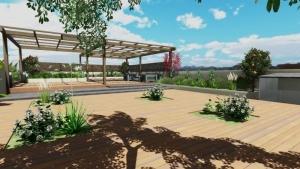 Les plans du toit-jardin-rendu