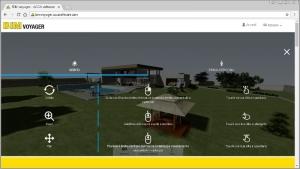 Navigation modèle bim en ligne bim voyager acca software