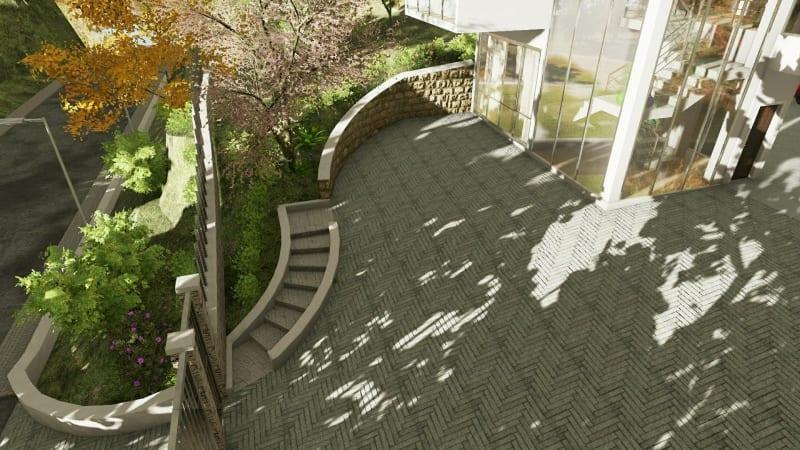 Rendu réalisation escalier extérieur