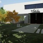 Chemin-exterieur-Rendu-Casa-En-Los-Cisne-Edificius-logiciel-BIM