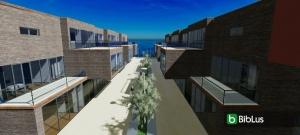 Caratteristiche delle case a schiera con disegni DWG e modelli 3D BIM da scaricare render Water Villas Edificius