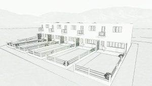 Exemple de maisons mitoyennes : Haus 5-9 du quartier Weissenhof à Stutgart - aperçu