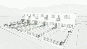Exemple de maisons mitoyennes:Haus 5-9 du quartier Weissenhof à Stutgart - aperçu