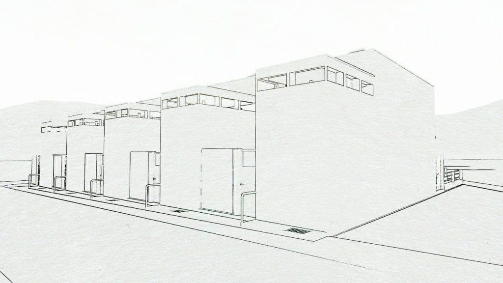 Maisons mitoyennes : Weissenhof aus 5-9 Stutgart Oud - rendu produit avec le logiciel BIM Edificius