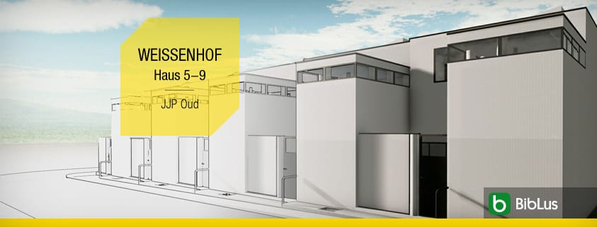 Maisons mitoyennes projets et exemples avec des plans, des planimétries et des dessins même en format dwg_Haus 5-9-JJP Oud