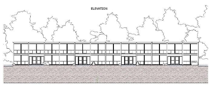 Maisons mitoyennes Lafayette Park Elevation - logiciel-BIM architectural Edificius