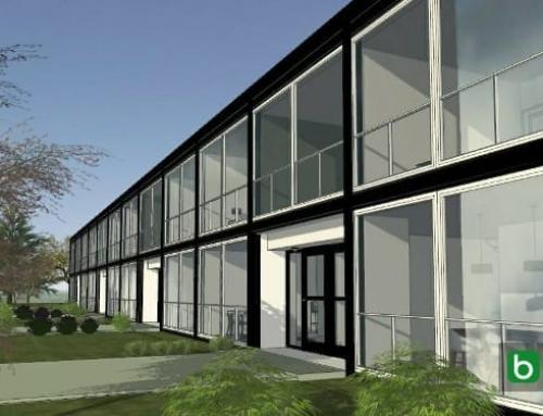 Maisons mitoyennes classiques et modernes, projet Lafayette Park de Mies Van der Rohe