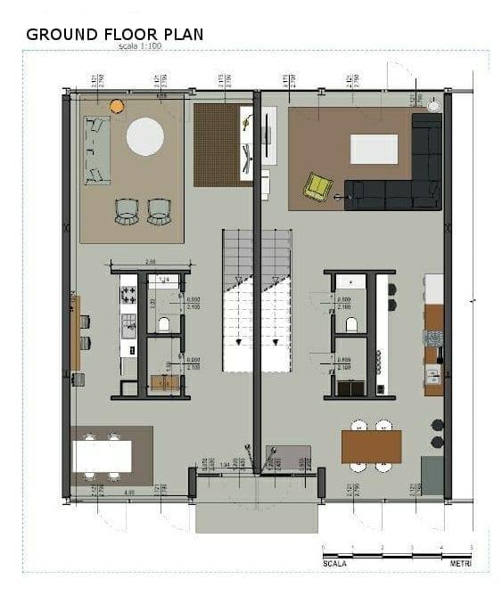 Maisons mitoyennes Plan Lafayette Park avec le logiciel BIM -d'architecture Edificius