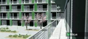 Logement social maisons avec accés par balcons