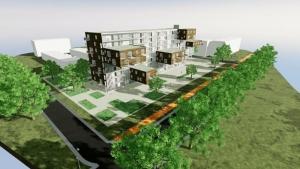 Logement social -modélisation 3D BIM -inspiré par le projet Wozoco - rendu produit avec Edificius
