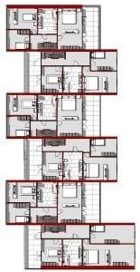 Plan du Premier étage: Water Villas