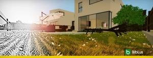 Projets de maisons mitoyennes avec patio ou jardin exemples et dwg a telecharger Logiciel BIM Edificius