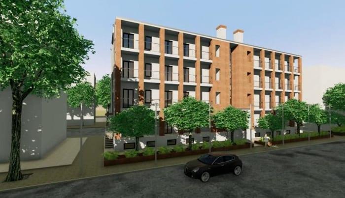 Habitations en barre Milan - rendu du logiciel BIM Edificius