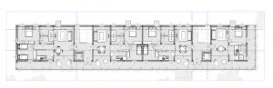 Habitations en barre Trame d'Ombra - plan d'ensemble etages -logiciel BIM Edificius