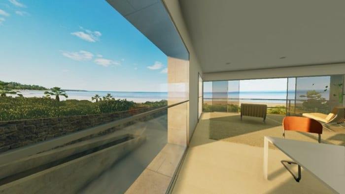 maisons-unifamiliales-modernes-House-of-the-Infinite-séjour-rendu-logiciel-BIM-Edificius