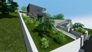 Maison unifamiliale-à deux étages - exterieur - rendu -logiciel BIM Edificius