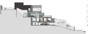projet maison unifamiliale à deux-étages - coupe C-C - logiciel BIM Edificius